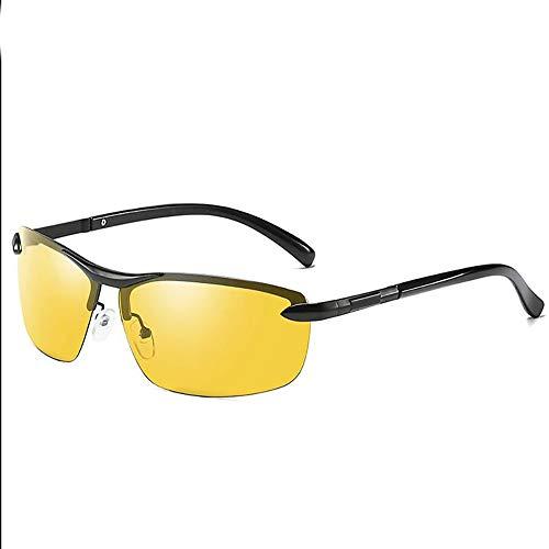 Sunglasses Flexible Erwachsene Sonnenbrille, Herren Photochromatisch Polarisierte Sonnenbrille für Fahren Draussen Sport mit Ultraleicht Rahmen,Yellow