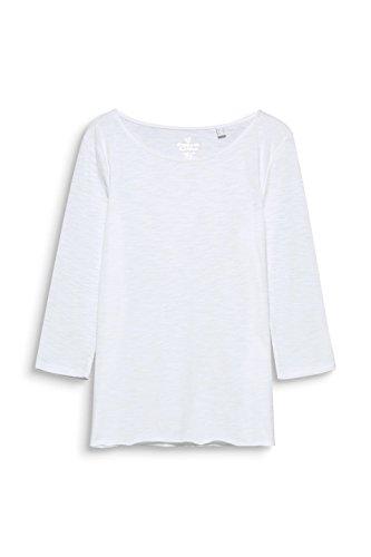ESPRIT Maglia a Maniche Lunghe Donna Bianco (White 100)