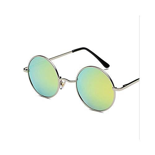 FGRYGF-eyewear2 Sport-Sonnenbrillen, Vintage Sonnenbrillen, Retro Round Glasses Männer WoMänner Metal Round Sunglasses Vintage Small Hippie Glasses Circle Lenses gold coated
