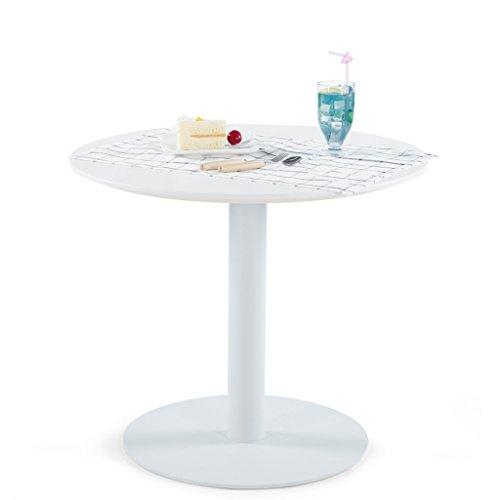 Sunon Holz Esstisch rund Büro Konferenzräume Tisch Kaffee Tee Tisch dip1707 D70xH60cm/27.6x23.6inches Moon White (Stühlen Runder Tisch Mit Kaffee)