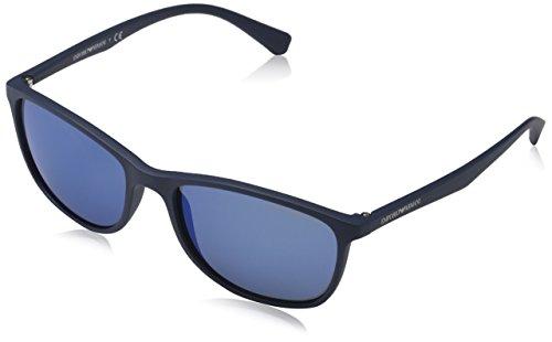 Emporio Armani Unisex EA4074 Sonnenbrille, Blau (matte blue 550455), Large (Herstellergröße: 56)