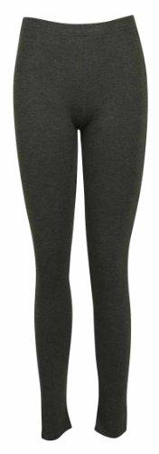 Femmes Neuf Décontracté Grande Taille Pantalon Extensible Dames Uni ÀÉlastique Long Legging Base Gris Foncé
