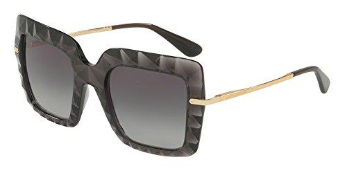 Dolce & gabbana 0dg6111 504/8g 51, occhiali da sole donna, grigio (transparent grey/gradient)