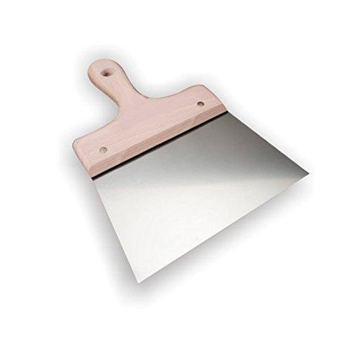 DEWEPRO® Breitspachtel - Flächenspachtel - Malerspachtel mit stabilem Holzgriff und Edelstahlblatt - Breite: 120mm - Fugenspachtel