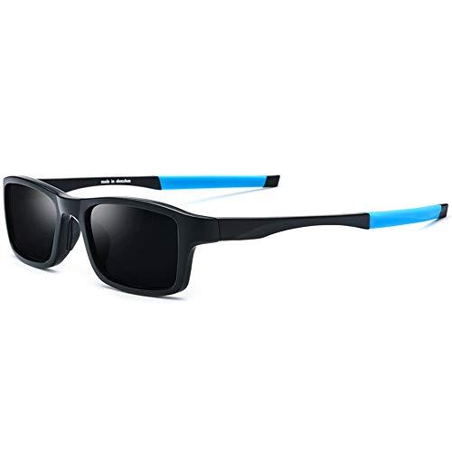 Yiph-Sunglass Sonnenbrillen Mode Sport polarisierte Sonnenbrillen, die Gläser für die im Freiensport der Männer der Frauen Fahren, die Golf Fahren (Farbe : Blue Leg Gray Piece, Größe : Free)