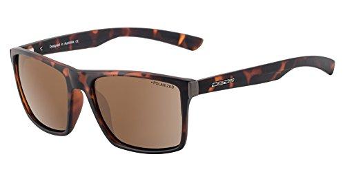 Dirty Dog Volcano Smart Wayfarer Sonnenbrille In Satin Tortoise mit Braun Polarisiert Objektiv