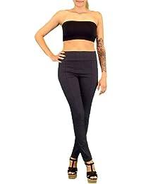 S&LU elegante Damen High-Waist-Hose Stoffhose in Größe M - XXXL