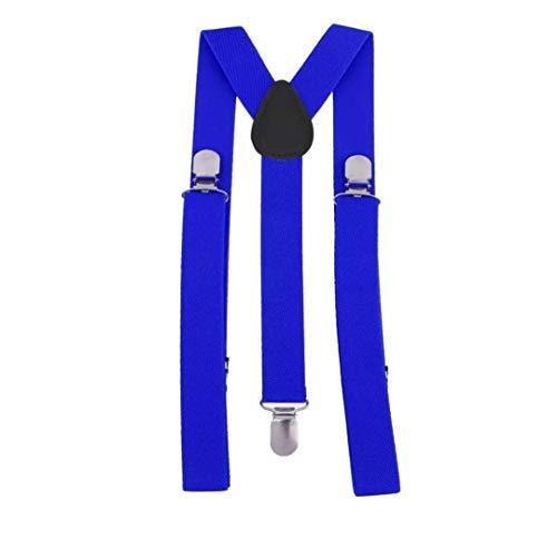Tirantes Elásticos Y Unisex Azul Oscuro - Ancho 25