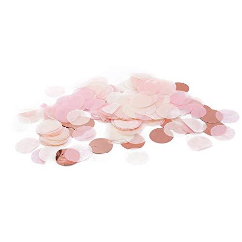 Carry stone Premium Qualität 10g Pro Beutel 1 Zoll Helle Farben Gemischte Kreise Seidenpapier Konfetti Hochzeit Tischdekorationen Rose Gold + Weiß + Rosa (Tischdekoration Gold Weiß Und)