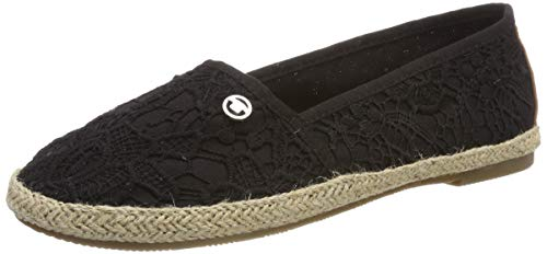 TOM TAILOR Damen 6992013 Espadrilles, Schwarz (Black 00001), 37 EU -