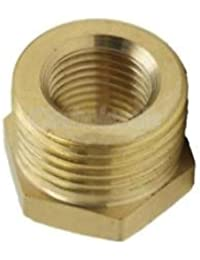 "Tradico® Brand New 1.2-3/4"" Thread Hex Nipples Pipe Connector Brass Straight Fitting Coupler #2"