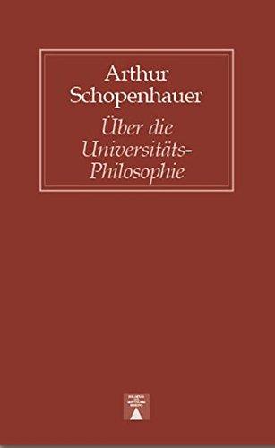 Ueber die Universitäts-Philosophie (Bibliothek des skeptischen Denkens)