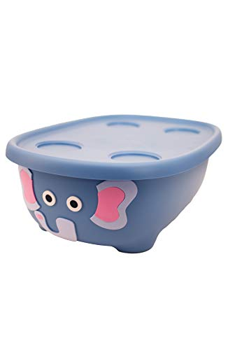 Prince Lionheart Infant Baby Bath, Blue Elephant