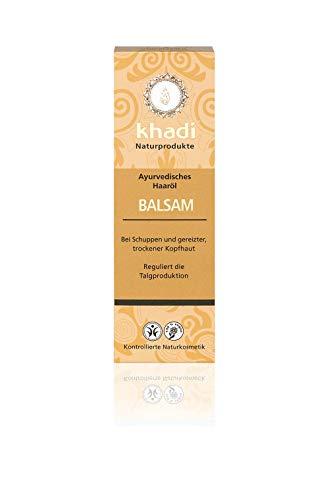 khadi Ayurvedisches Haar-Öl Balsam 100ml I natürliches Haarpflege-Produkt für gereizte Kopfhaut und Schuppen I Naturkosmetik 100{52e45603e38b64c13843c71e6fcaafc6c248f5eadf066442d0ab297f928bdb27} biologisch I Sesamöl, Senföl & Neem