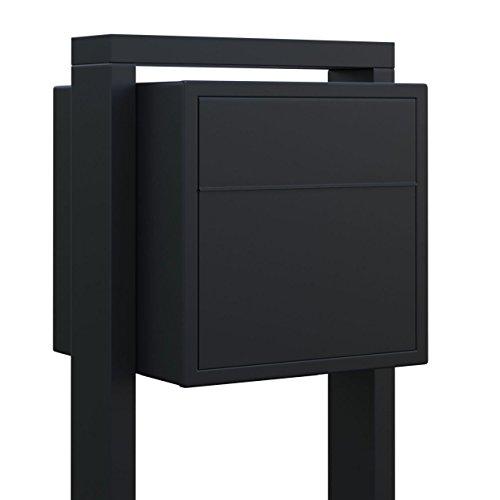 Standbriefkasten, Design Briefkasten Soprano Schwarz - Bravios