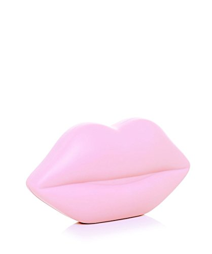 Lulu Guinness Femmes pochette de caoutchouc lèvres Rose Rose