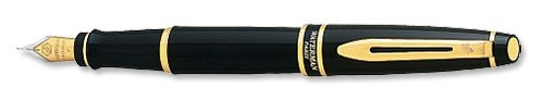 waterman-expert-lacquer-black-gold-trim-medium-nib-fountain-pen-gift-boxed