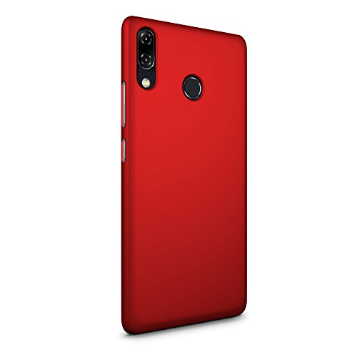 SLEO ASUS ZenFone 5 (2018) ZE620KL Hülle, Hart PC [Robuste Schutzhülle] Handyhülle Tasche Schlank Schale Hard Cover für ASUS ZenFone 5 (2018) ZE620KL Case - Rot