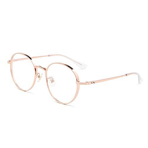 Pure Titan Runde Rahmen Retro Brille Rahmen Ultra Licht Brille Rahmen,Roségold