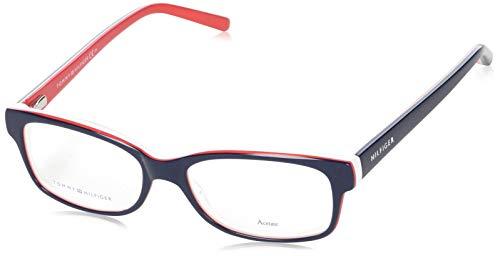 Tommy Hilfiger Damen TH1018-UNN-52 Brillengestelle, Rot, 52