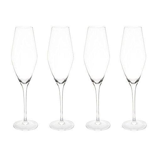 ProCook - Set de Verres/Coupes / flûtes à Champagne en Cristal 4 pièces