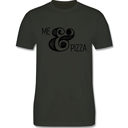 Statement Shirts - Me & Pizza Typo - Herren Premium T-Shirt Army Grün