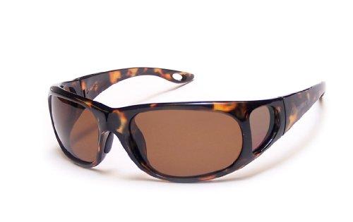 Coyote Eyewear p-22Sportsman 's P-Serie Polarisiert Angeln Sonnenbrille, Unisex, Tortoise/Brown