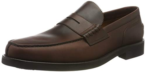 Lottusse L6902, Mocasines Loafer para Hombre, Marrón Chromex Brown Chromex Brown, 41 EU