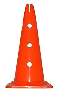 agility sport pour chiens - cône avec trous, 40 cm, orange - 1x MZK40o