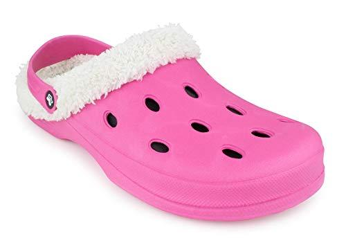 Romika Grizzly 11401 Clog, Größe: 36 EU, Farbe: Pink, Hausschuhe, Wärme-Pantoffeln, Clogs, Schlappen, männer, frauen, winterhaussschuhe, lammfellhausschuhe, fellhaussschuhe, gefüttert, warm