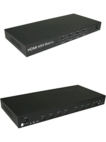 HDMI 4x4 Matrix (Splitter & Switch Combo device)- 4 Inputs