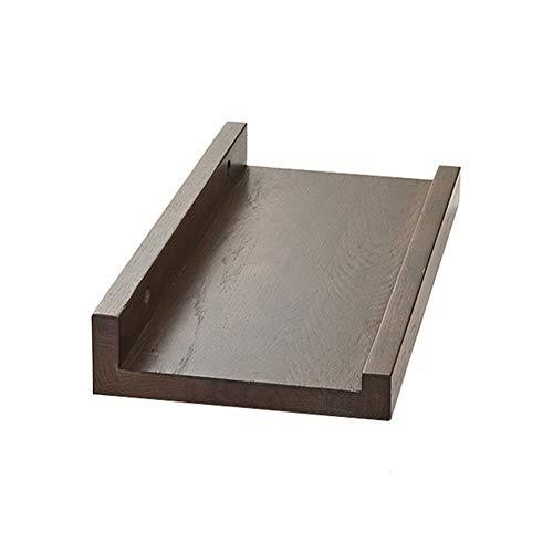 QIANDA Wandregal Schweberegal U-Form Holz Schallwand-Design Wandregale Kleine Hängematte, 2 Farben, 8 Größen (Farbe : B, größe : 30 x 15cm)