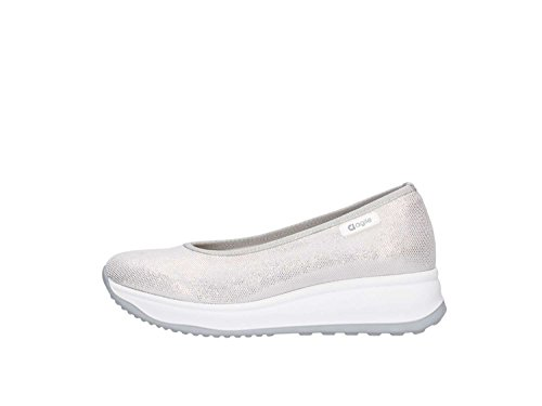 Agile By Rucoline 136 Ballerine Femme Argent 38½