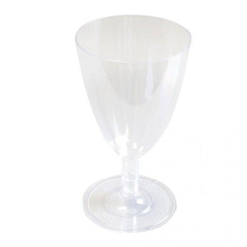 Weinglas, transparentes Weinglas mit 100 ml Füllmenge, Weinkelch, Plastik-Weinglas,...