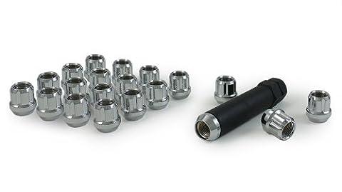 Gorilla Automotive 20083SD Small Diameter Acorn Open End Chrome 5 Lug Kit (1/2 Thread Size) - by Gorilla
