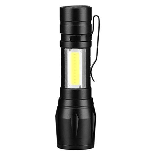 MMOOVV 1 PC Mini Tragbare 3 Modus Taschenlampe Zoomable XPE Q5 COB LED Taschenclip 14500 / AA Taschenlampe Werkstattlicht Camping Licht Notbeleuchtung Abstand 50-100m - Mini-eiszapfen-lichter
