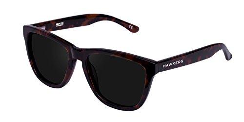 Hawkers Black Carey Dark One X, Gafas de Sol Unisex, Marrón/Negro