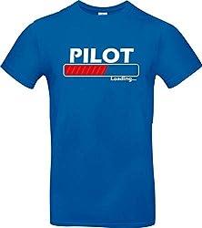 Shirtstown Kinder T-Shirt, Pilot Loading, royal, Sprüche Spruch Logo, Hemd, Niki, Farbe blau, Größe, 152