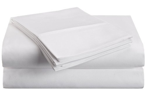 Microfiber Twin XL Sheet Set Solid White by Vanessa Collection