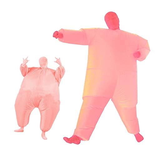 1949shop Aufblasbare Fat Chub Funny Suit Kostüm Blow Up Halloween-Kostüm (Pink)