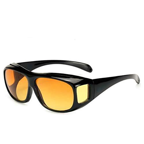 VCB High-End Polarisationsbrille Brille Myopia Night Driving Sonnenbrille Set Brille - Leuchtend Schwarz + Teefarbe (Typ 6)