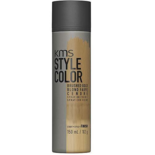 KMS California Style Color Brushed Gold temporäres Farbspray - Haarfarbe ohne sich festzulegen, 150 ml (Temporäre Schwarz Haar Color Spray)