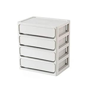 ZHAO ZHANQIANG Plastic Simple Desktop Storage Box Drawer Type, 4 Layers (Color : WY84)   7