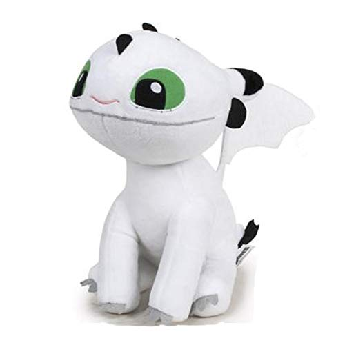 HTTYD Dragons, how to train your dragon - Bebe Dragon White Green Eyes 10 '/ 26cm Super Soft Quality (760017685)