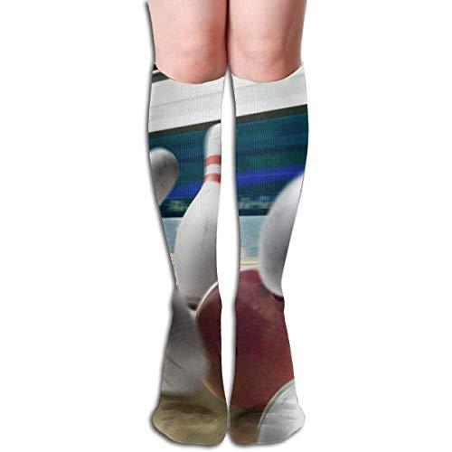 CVDFVFGB Compression Socks Bowling Ball Skittles High Boots Stockings Long Hose for Yoga Walking for Women - Bowling Ball Kostüm