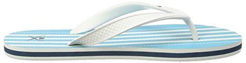 HACKETT LONDON Herren Class Stripe FF Flip Flops Blau (Teal)