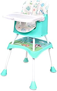 R for Rabbit Cherry Berry Grand 4 in 1 Convertible Feeding Table high Chair for Baby Kids Toddlers from 6 Mont