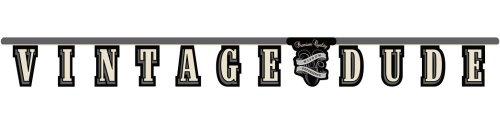 Creative Converting Vintage Dude Banner, mit Buchstaben (Vintage Dude-party Dekorationen)