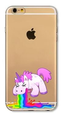 Coque Iphone 5C : Licorne Vomi Arc en ciel (livraison gratuite en France) Phone Tattoo©