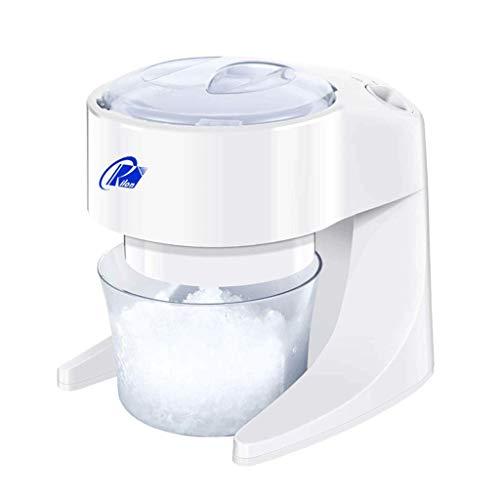 LXZZJ Elektrische Eiscrusher, Rasierer Schneekegel Maker Maschine für Home Küche, weiß,